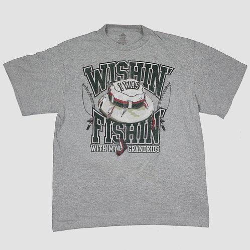 Vintage 'Fishing' Grey T-shirt
