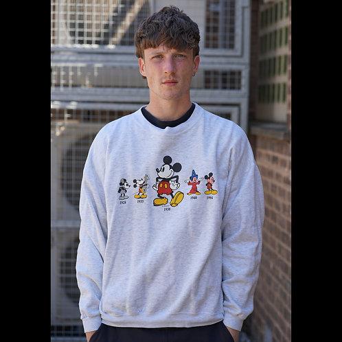 Disney Vintage Grey Mickey Mouse Sweatshirt