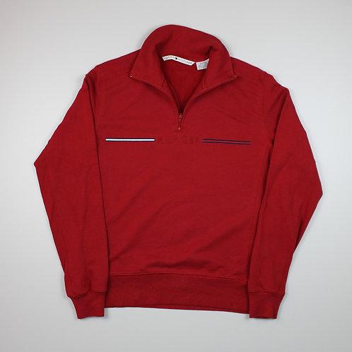 Tommy Hilfiger Red 1/4 Zip Sweater