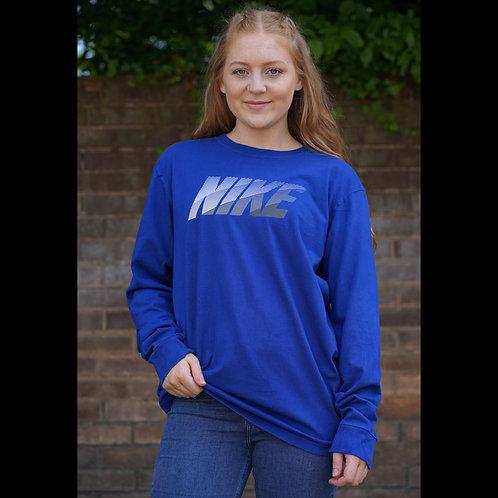 Nike Vintage Blue Long Sleeved TShirt