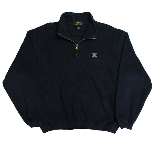 Vintage Navy 1/4 Zip Fleece
