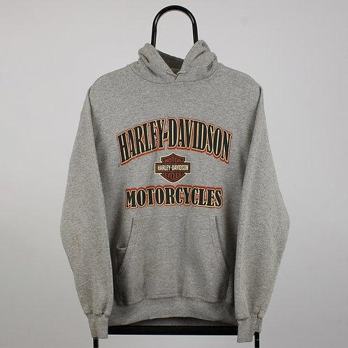 Harley Davidson Vintage Spell Out Grey Hoodie