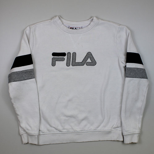 Fila Spellout White Sweater