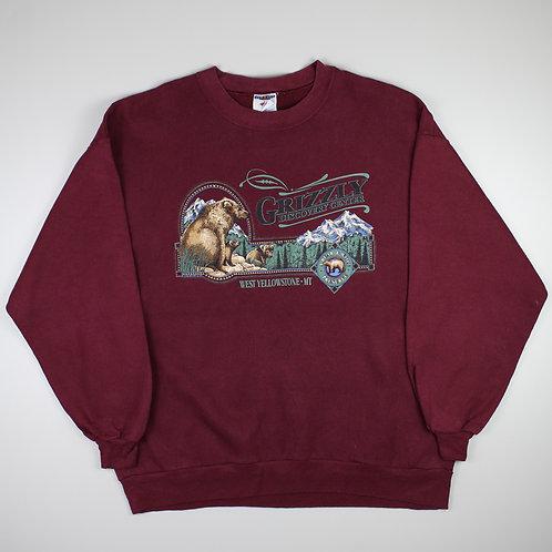 Vintage Maroon 'Grizzly' Sweatshirt