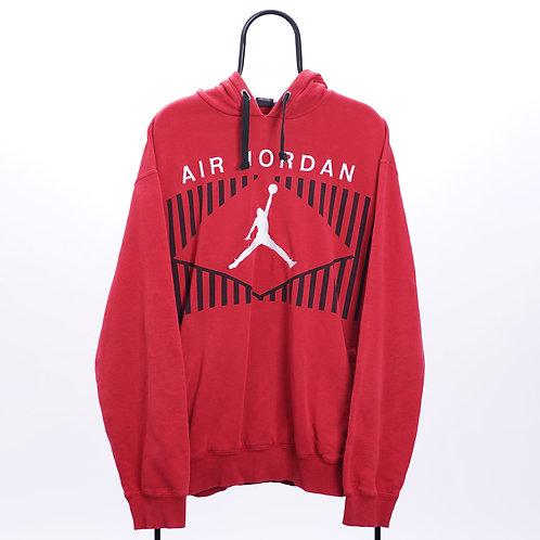 Air Jordan Vintage Red Embroidered Logo Hoodie