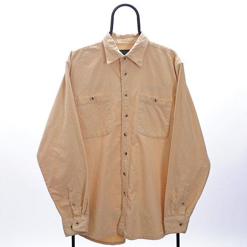 Vintage Pastel Yellow Flannel Shirt