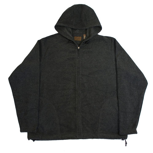 Vintage Grey Hooded Fleece