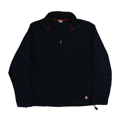 Vintage Navy 1/4 Zip Fleece