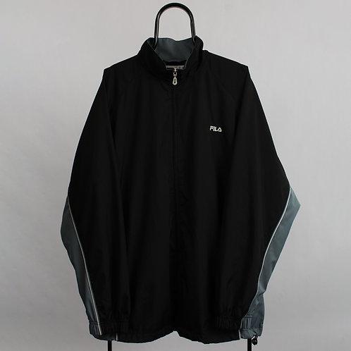 Fila Vintage Black Windbreaker Jacket