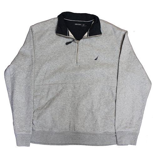 Nautica Grey 1/4 Zip Sweater