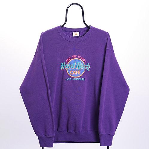 Hard Rock Cafe Vintage Purple Los Angeles Sweatshirt