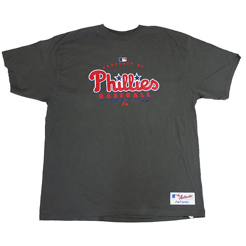 Majestic 'Phillies' Grey T-shirt