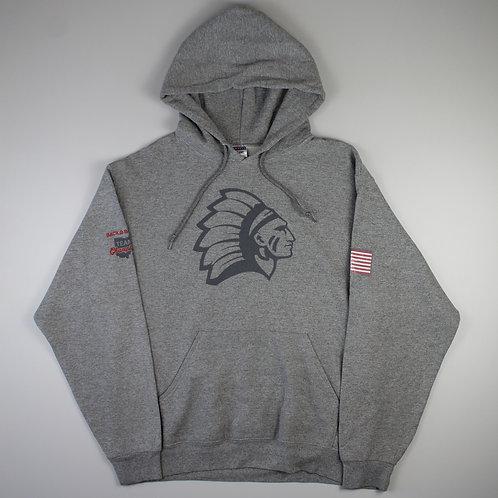 Vintage Grey 'Native American' Hoodie