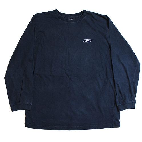 Reebok Navy Long Sleeved T-Shirt