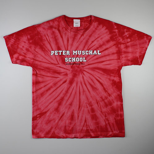 Vintage Red Tie-Dye 'Peter Muschal' T-Shirt