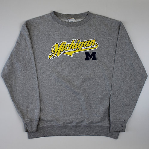 Vintage Grey Michigan Sweatshirt