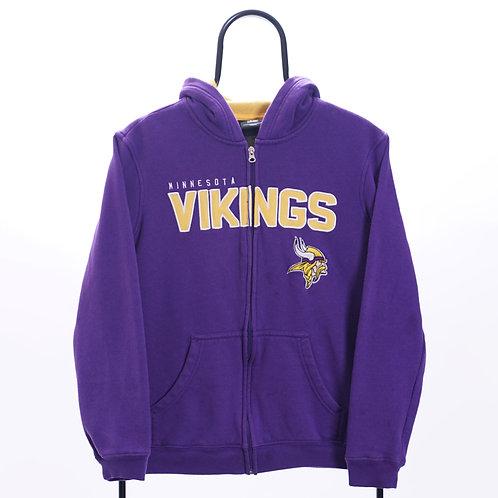 NFL Vintage Minnesota Vikings Purple Zip Up Hoodie