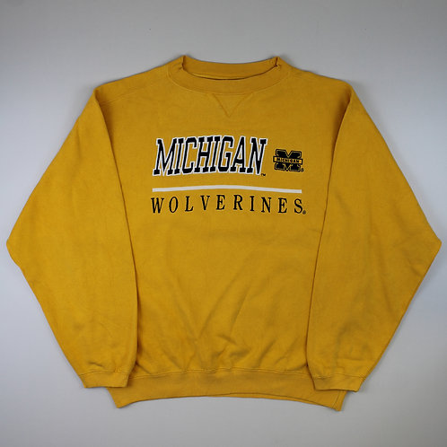 Vintage Yellow 'Michigan Wolverines' Sweatshirt