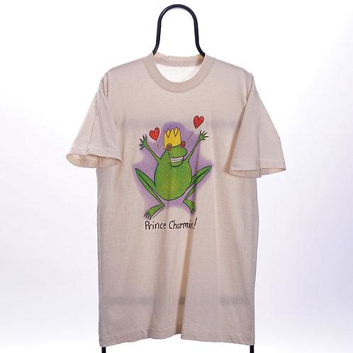 Vintage Singe Stitch Cream Prince Charming TShirt