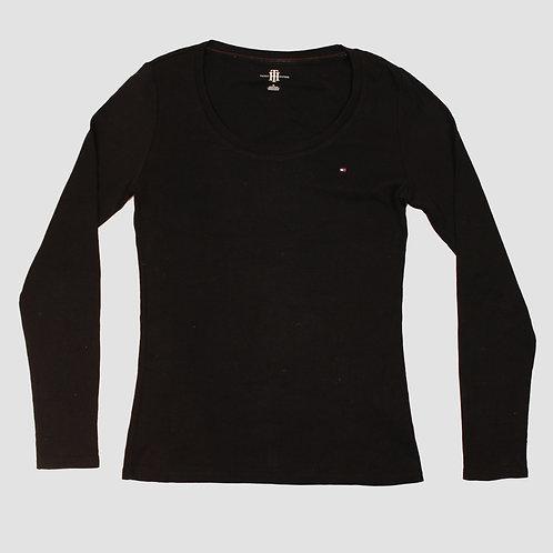 Tommy Hilfiger Black Long Sleeved Top