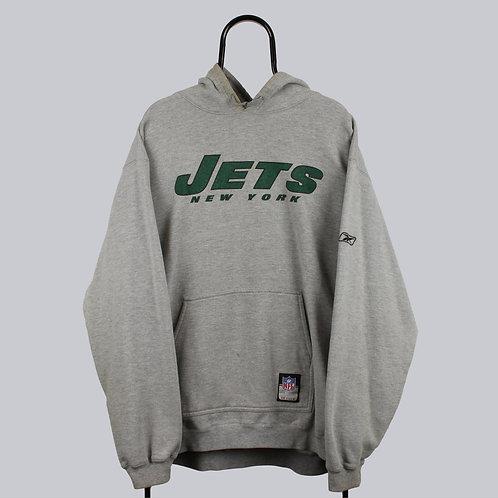 Reebok NFL Vintage New York Jets Grey Hoodie
