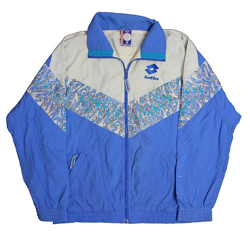 Lotto Blue Patterned Tracksuit Top.