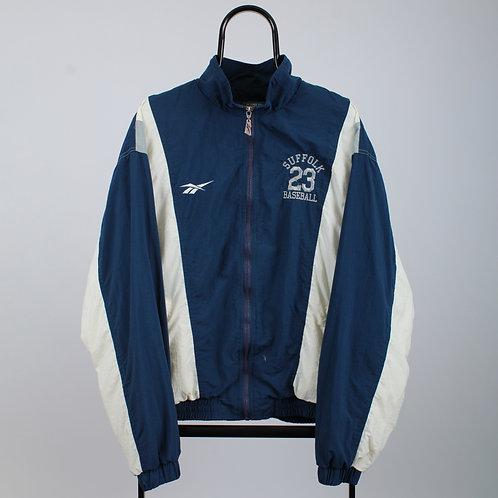 Reebok Vintage 90s Suffolk Baseball Blue Windbreaker Jacket