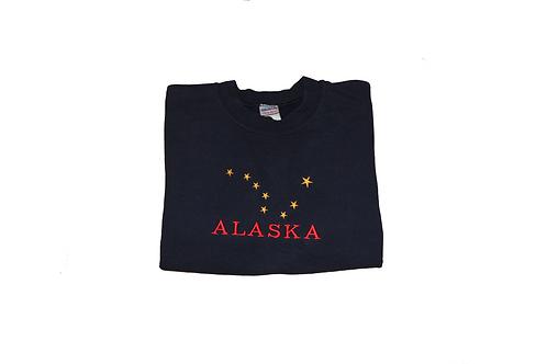 Vintage Black & Red 'Alaska' Sweatshirt