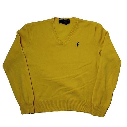 Ralph Lauren Yellow V-Neck Sweater
