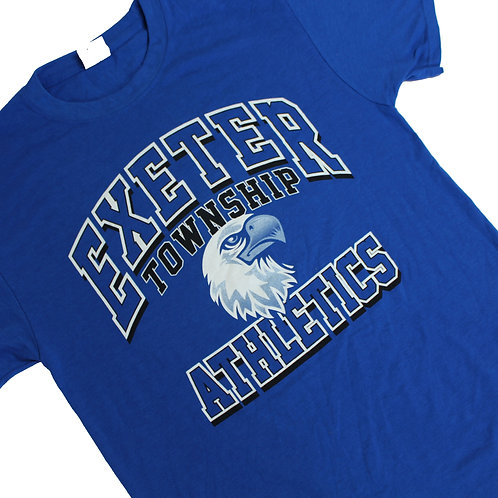 Vintage 'Exeter Athletics' Blue T-shirt