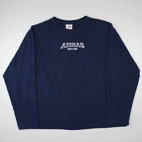 Adidas Navy Long-Sleeved T-Shirt