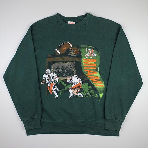 Nutmeg Green 'Miami Hurricanes' Sweatshirt