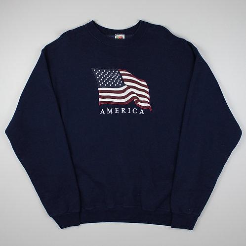 Vintage Navy America Sweatshirt