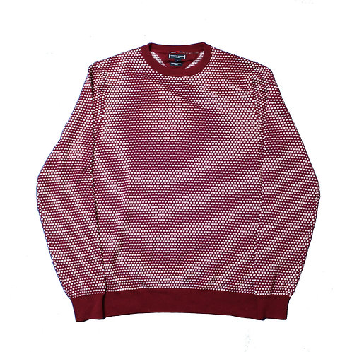 Tommy Hilger Patterned Marron Sweater