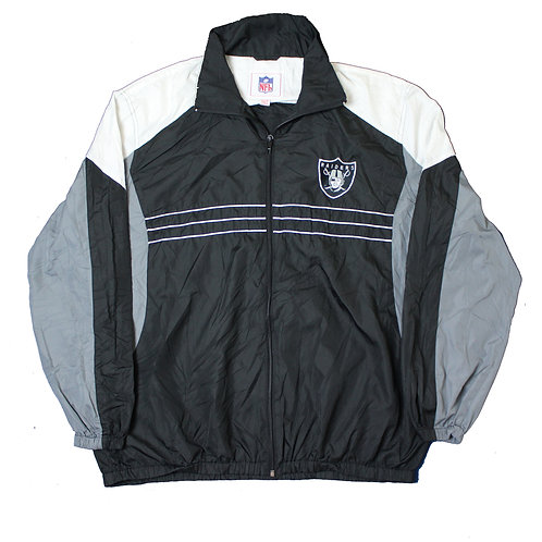 NFL Oakland Raiders Black Tracksuit Top