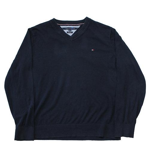 Tommy Hilfiger Black V-neck Sweater