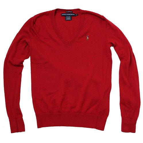 Ralph Lauren Red V-Neck Sweater