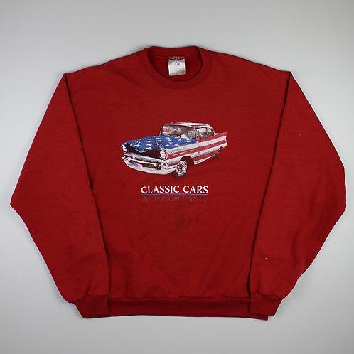 Vintage Red 'Classic Cars' Sweatshirt