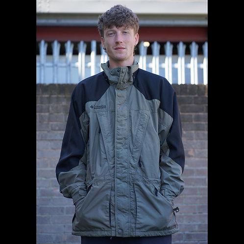Columbia Vintage Khaki Rain Jacket