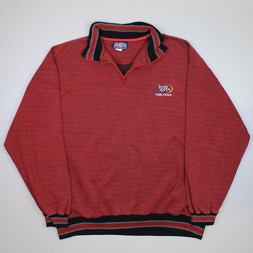 Vintage 'Polaris' Red 1/4 Zip Sweater