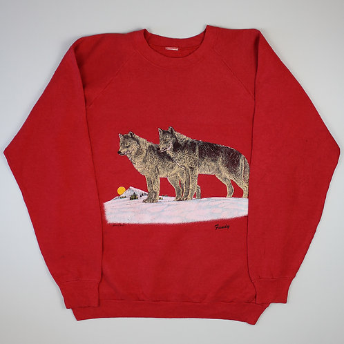 Vintage Red Wolves Sweater