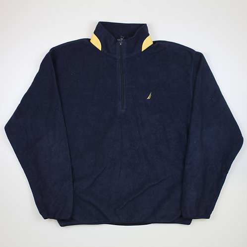 Nautica Navy & Yellow Fleece