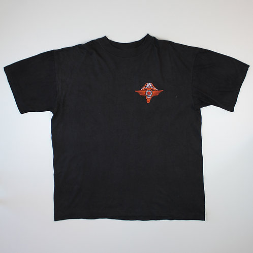 Harley Davidson Black Embroidered T-Shirt