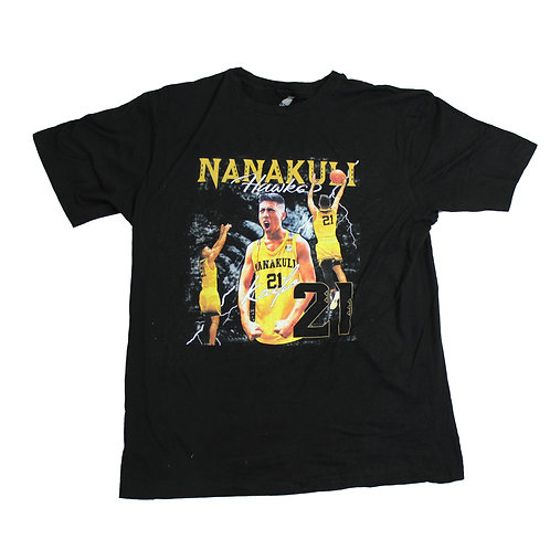 Vintage Basketball Graphic Black T-shirt