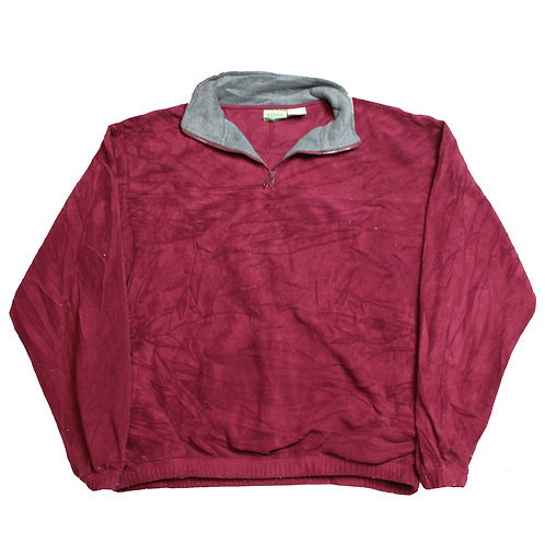 Vintage 1/4 Zip Maroon Fleece