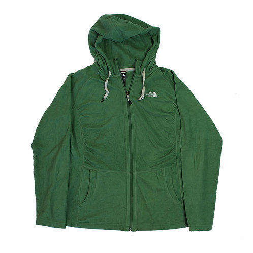 The North Face Green Hooded Fleece