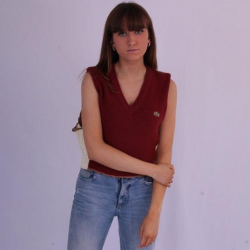 Reworked Lacoste Maroon Sweater Vest
