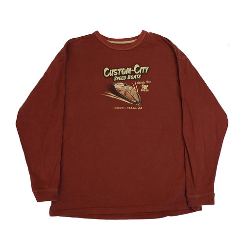 Vintage 'Custom-City Speed Boats' T-shirt