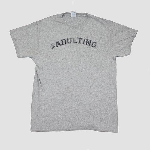 Vintage Grey 'Adulting' T-Shirt