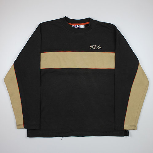 Fila Spellout Brown Sweater